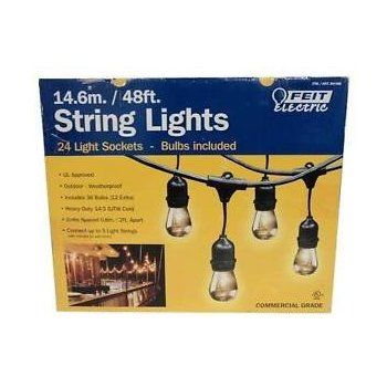 Feit Electric Led String Lights Delectable Amazon  Feit Electric 48Ft  146M Outdoor String Lights48 Inspiration