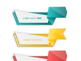 Photo of Colorful Origami Label Pack Free Vector   free vectors
