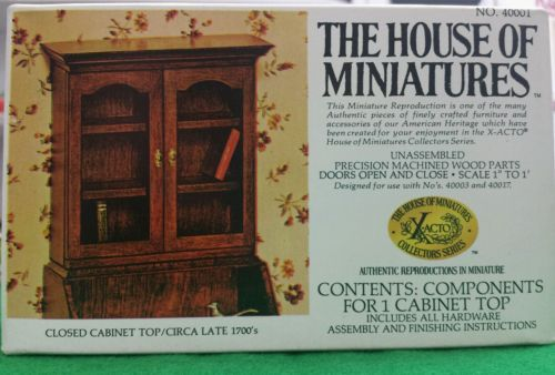 Collectable-House-of-Miniatures-Closed-Cabinet-BookCase-Circa-1700s-40001-Xacto