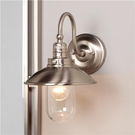 Schooner Bath Wall Sconce Wall Sconces Brushed Nickel And Bath - Bathroom wall sconces brushed nickel for bathroom decor ideas
