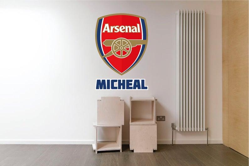 Arsenal Logo Wall Decal Football Club Wall Decal Sticker Etsy V 2020 G S Izobrazheniyami