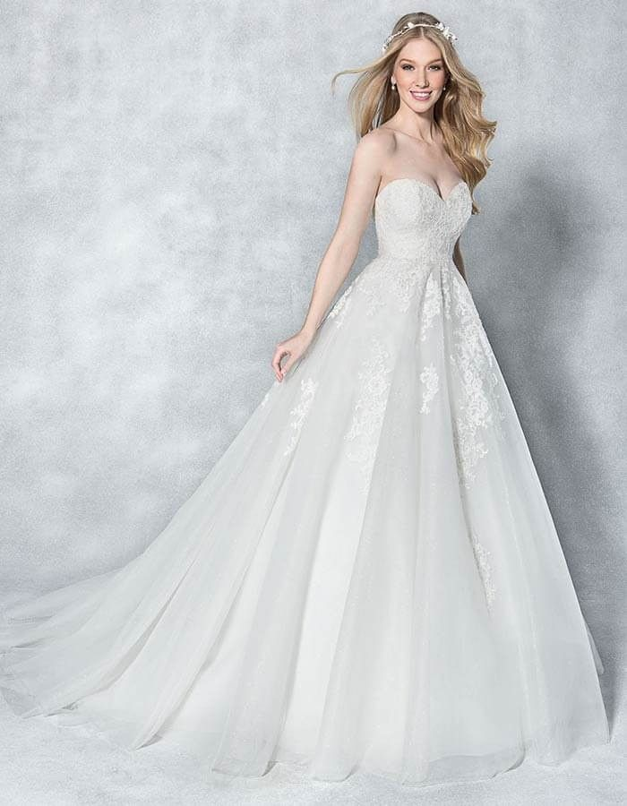 Feel like a princess on your wedding day in this sparkling strapless ...