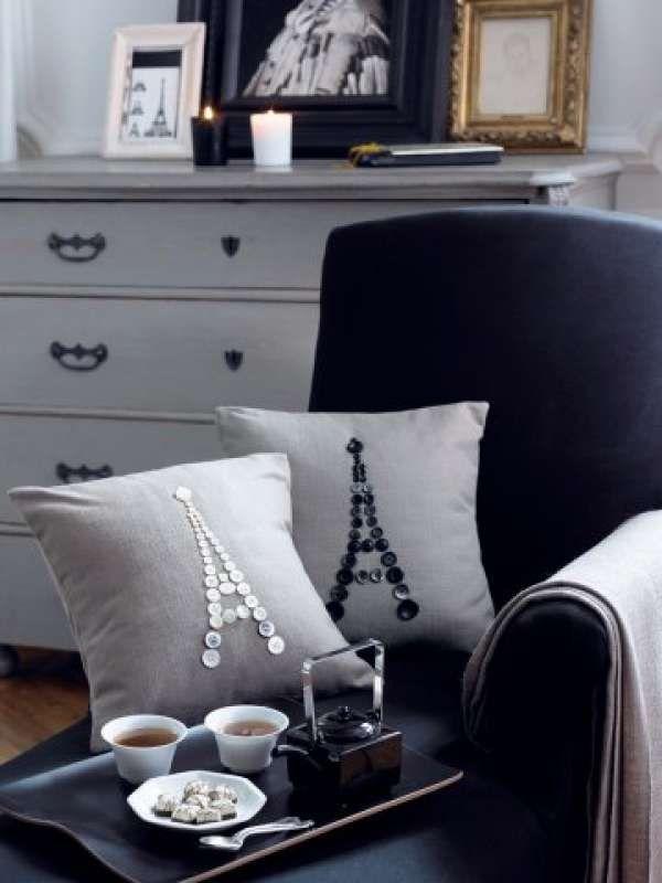 16 id es cr atives pour customiser un coussin d co pinterest. Black Bedroom Furniture Sets. Home Design Ideas