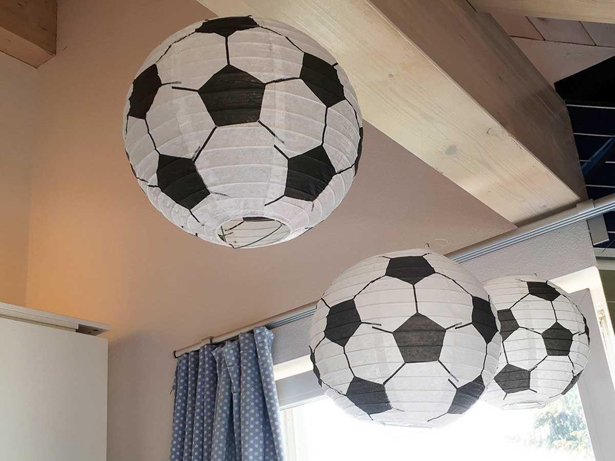 Lampions Kinderzimmer ~ Lámpara balón de fútbol 3d la lámpara ideal para los futboleros