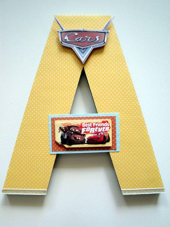 Disney Cars Wall Letters, 3D Custom Wall Letters, Boys Room Decor ...