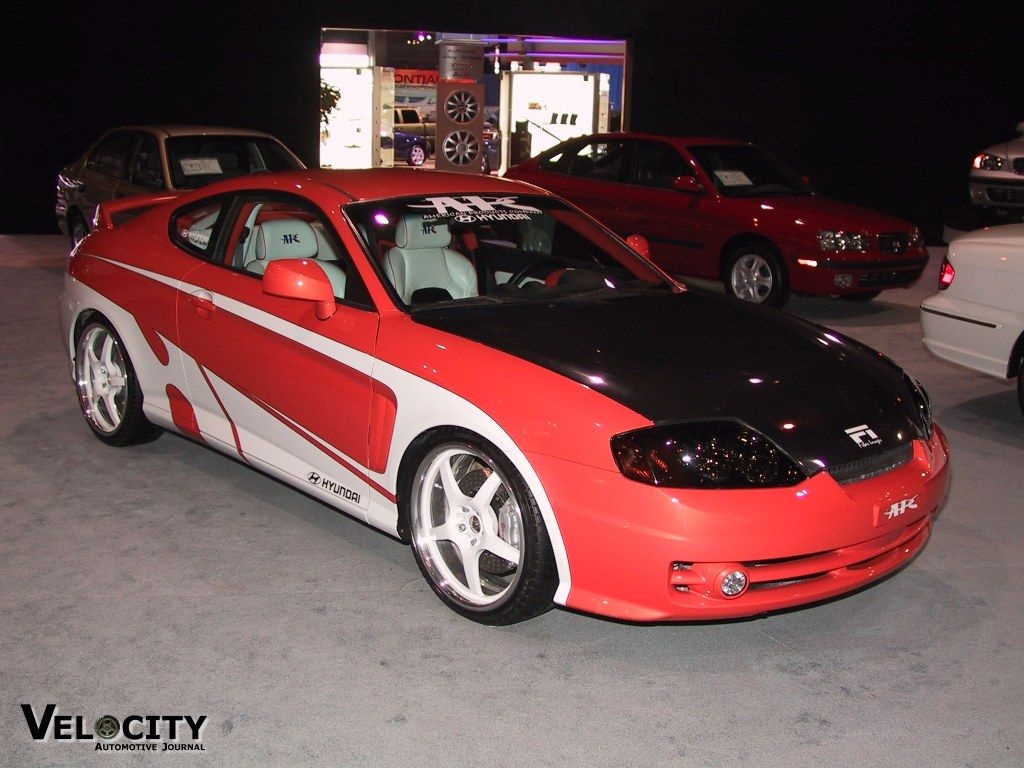 2003 Hyundai Tiburon GT (modified By APC) Tuscani Orange White And Black  Interior Custom