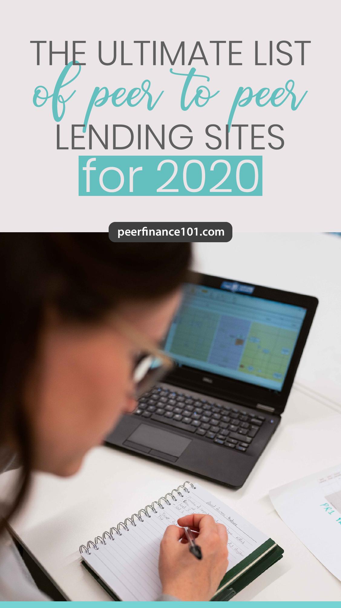 The Ultimate List Of Peer To Peer Lending Sites For 2020 In 2020 Lending Site Peer To Peer Lending Peer