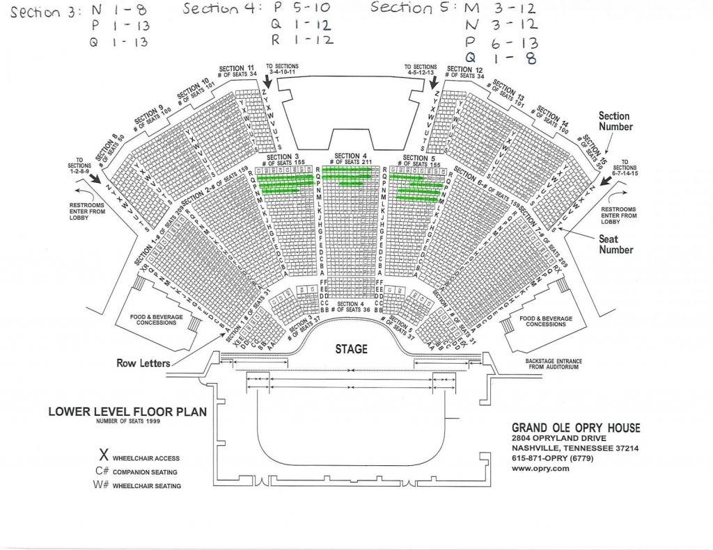 Elegant Grand Ole Opry House Seating Chart Seating Charts Opry Grand Ole Opry