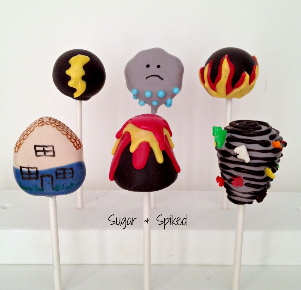 Natural disaster cakepops for an insurance agentgreat