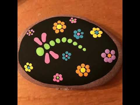 Easy DIY Dragonfly Rock Painting for Beginners