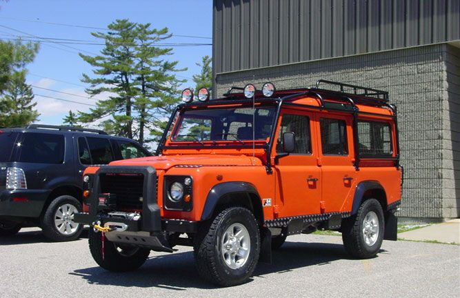 ROX Roof Rack and LR A Rubber Nudge bar with winch ...