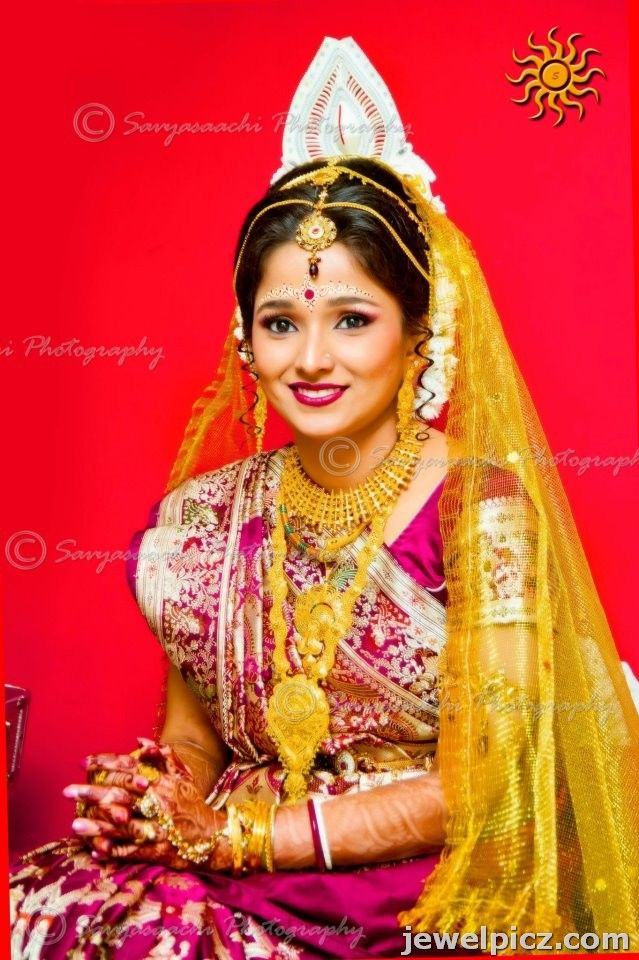 bengali-bride-jewellery-gold-long-necklace-designs-head-jewellery ...