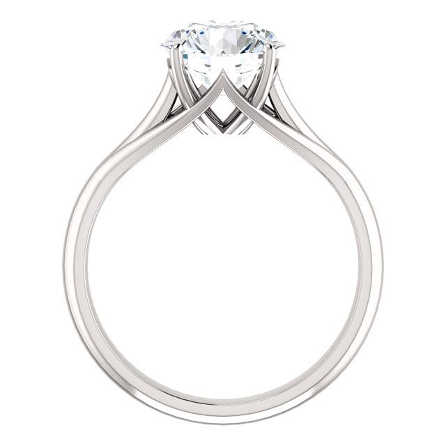 Feabhra 237 D Trellis Cathedral Solitaire Ring With An 8mm