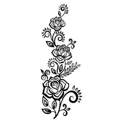 Pin By Kystal Howard On Tattoos Black And White Flowers Flower Design Images Flower Sketches