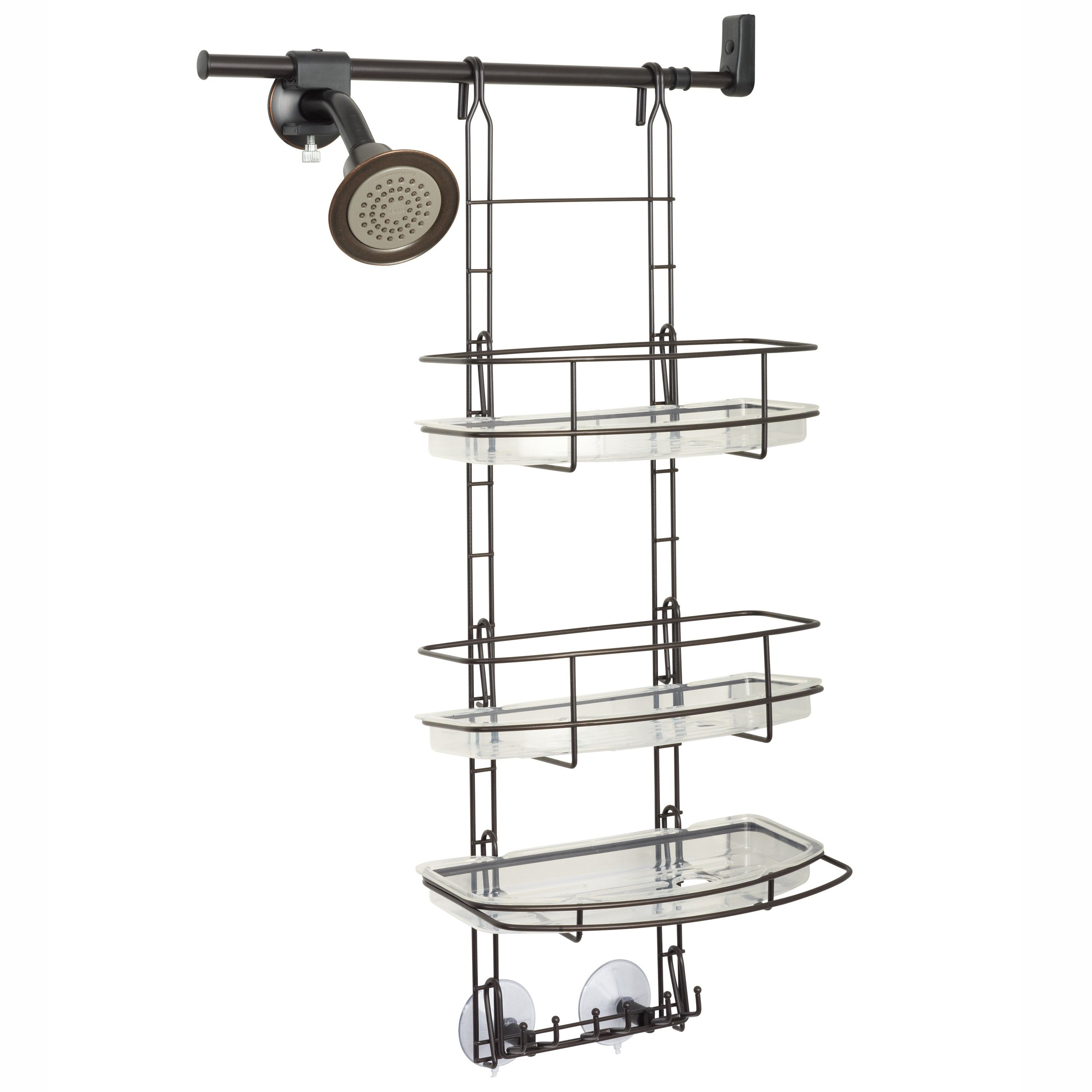 Zenna Home E2601HB, Make-A-Space Side Mount Shower Caddy with Self ...