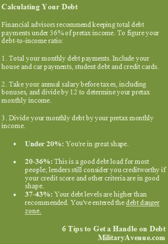 6 Tips to Get a Handle on Debt - from USAA Egads!!! Unless you\u0027re