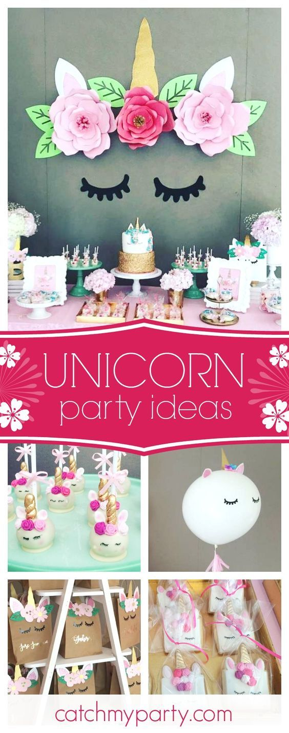 Swoon over this wonderful unicorn birthday party The unicorn