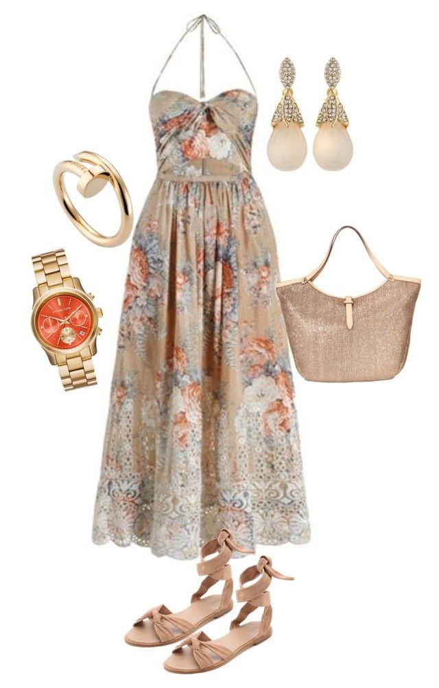 """""""Last days of summer"""" by loula-ben ❤ liked on Polyvore featuring Zimmermann, Stella & Dot, Cartier and R.J. Graziano"""