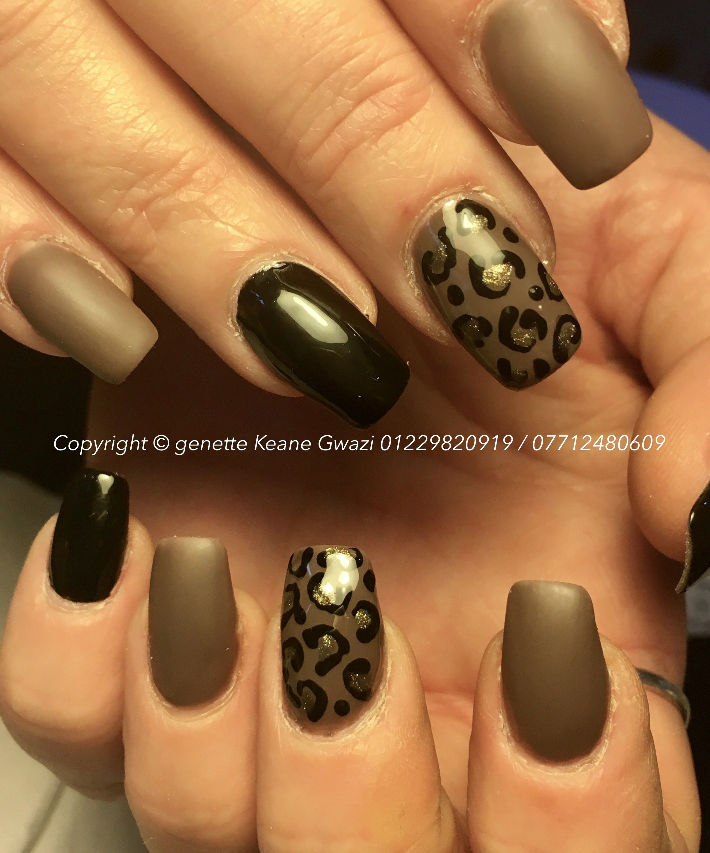 Matte brown nails. Acrylic short nails & nail art | Nail Art ...