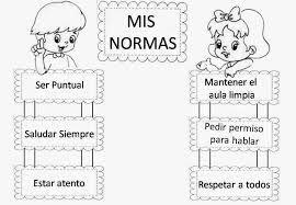 Resultado De Imagen Para Normas De Convivencia En El Aula Para Colorear Para Primaria Normas Del Aula Reglas De Clase Normas De Clase