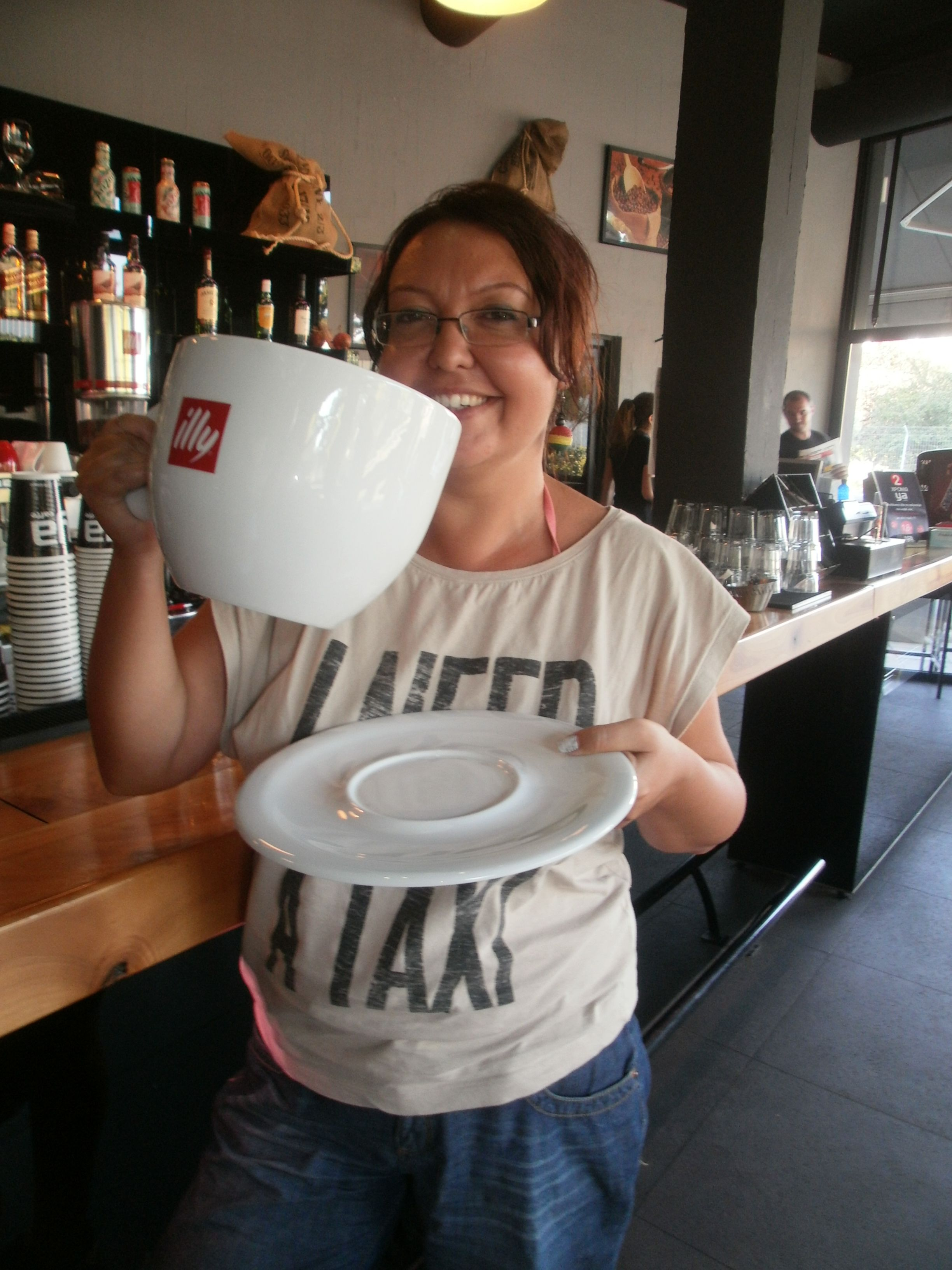 Drinking A Big Cup Of Coffee With Images Coffee Addict Big