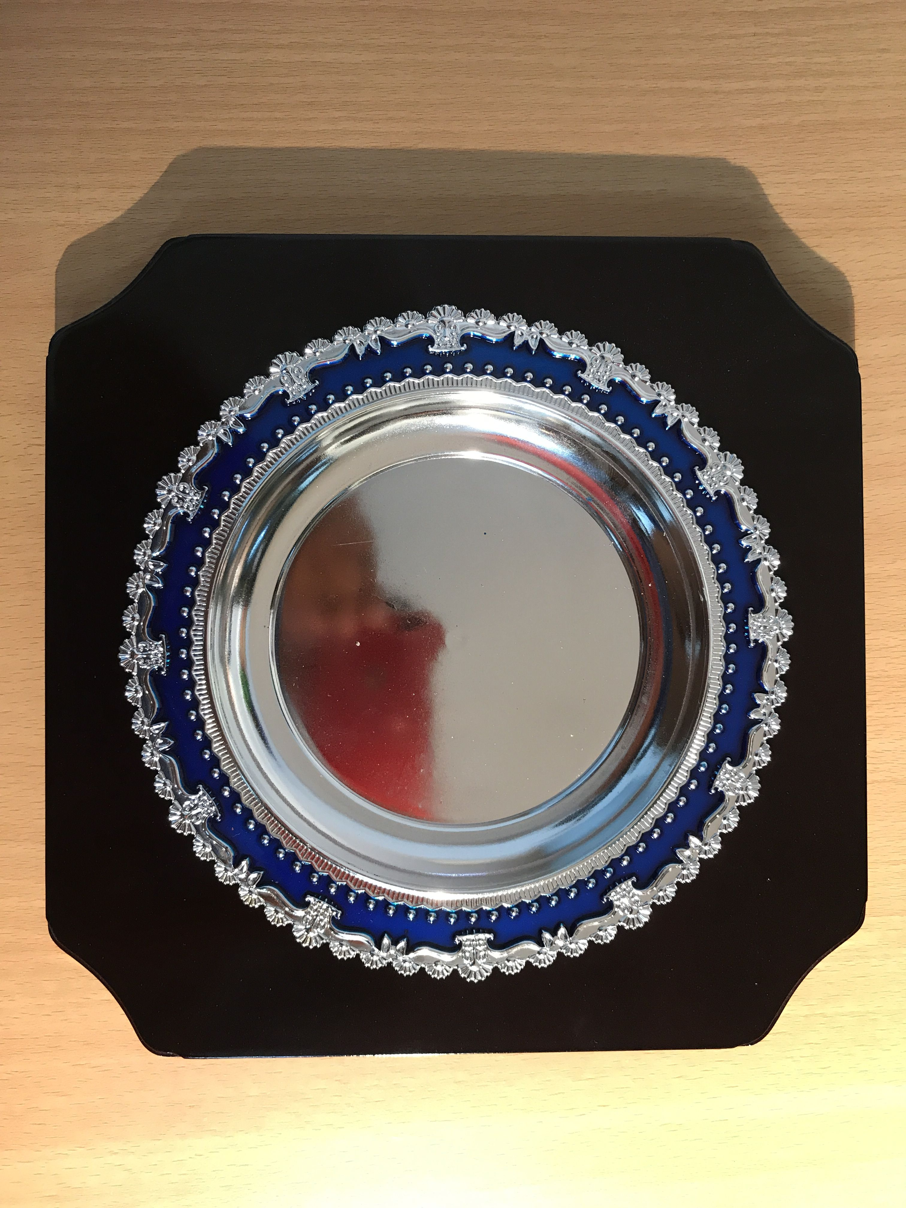 Metal Crest with Wooden backing Graduation frame