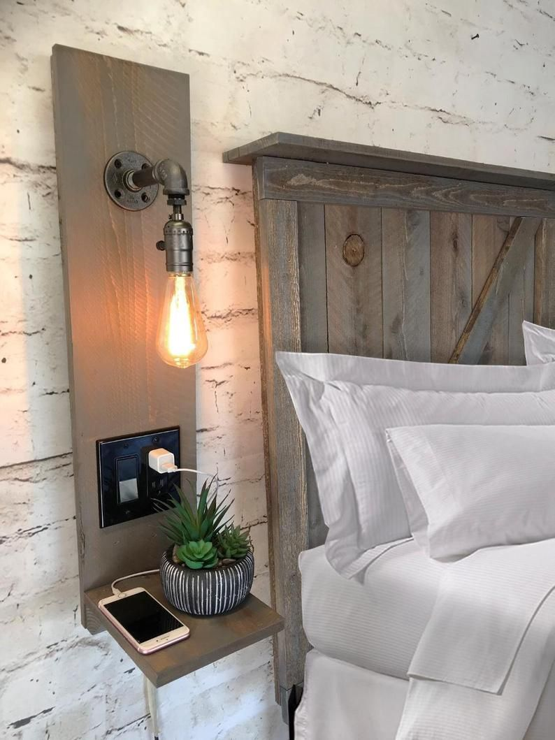 47++ Floating nightstand with light and outlet ideas