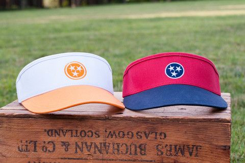 Tennessee Tristar Golf Visors - Volunteer Traditions TN State Pride Headwear e611d917468