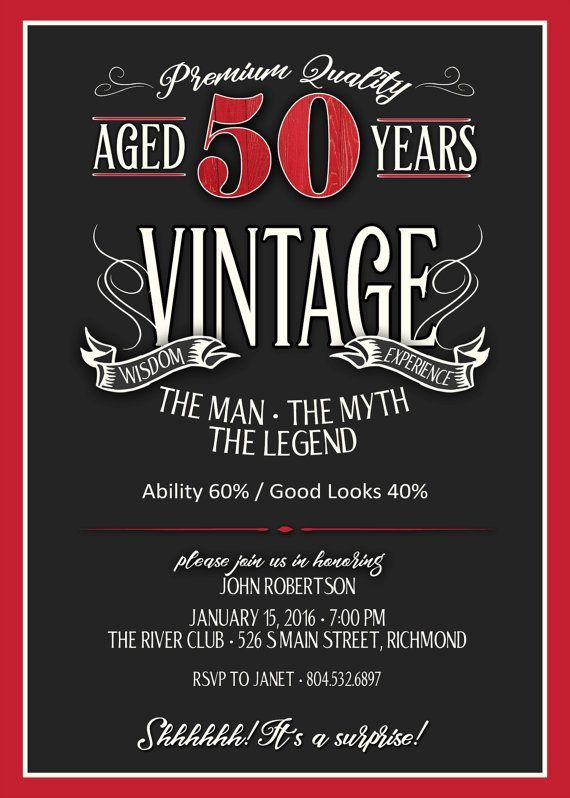 Mens 50th Birthday Cards ~ Image result for th party invitation wording invitations pinterest