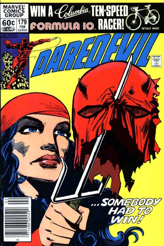 Daredevil V1 178 Elektra Marvel Comic Book Cover Art By Frank Miller Daredevil Comic Daredevil Marvel Comics Covers