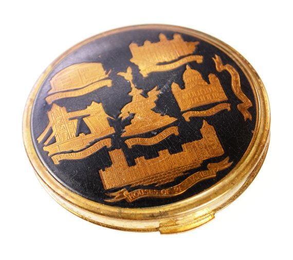 vintage gold compact mirror. vintage gold compact mirror powder by avintagejewelrychest, $27.00