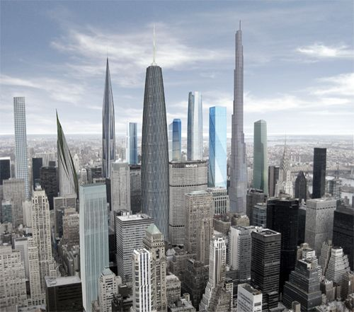 Proposed up-zoning of Midtown Manhattan- what it might look like in 2040. Probably makes sense.