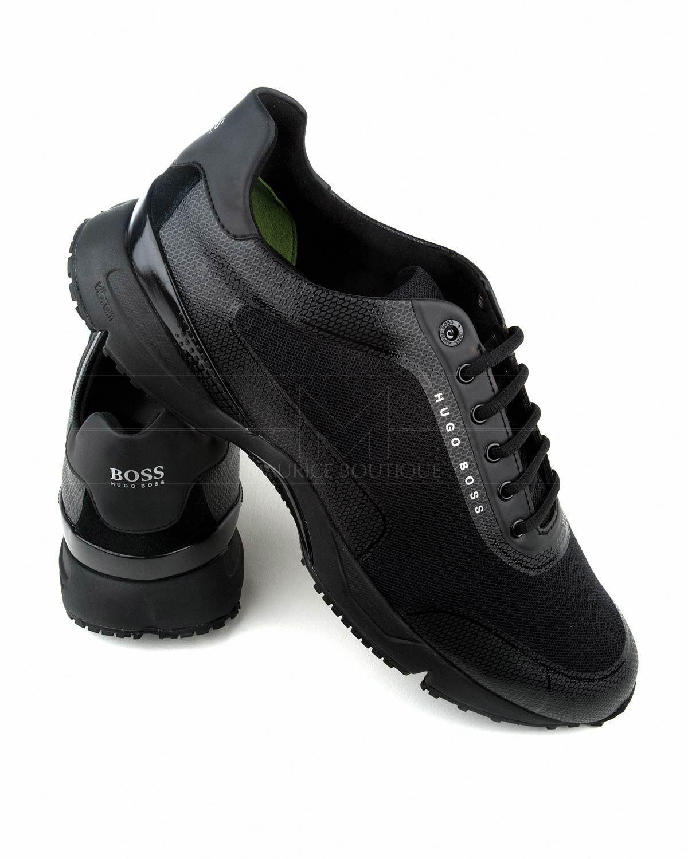 9873c90f342 Zapatos Hugo Boss Negros   Oro - Velocity Runn Logo