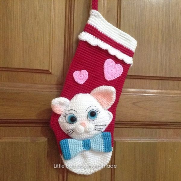 My Lovely Cat Christmas Stocking crochet pattern by Little Bamboo ...