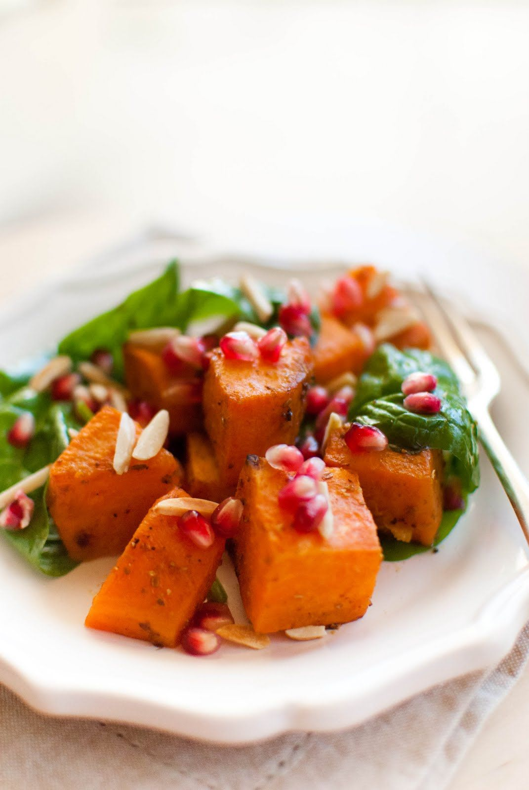 Scandi Home: Roasted Sweet Potato and Pomegranate Salad