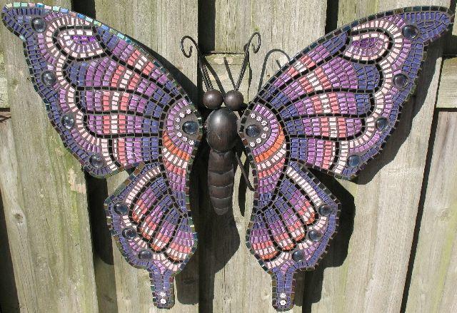 Vlinder Groot Paars Vlinders Mozaiek Vliegers