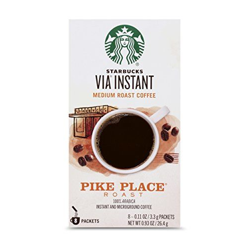 Starbucks VIA Instant Pike Place Roast Medium Roast Coffee (1 box of 8 packets) * Check out the ...