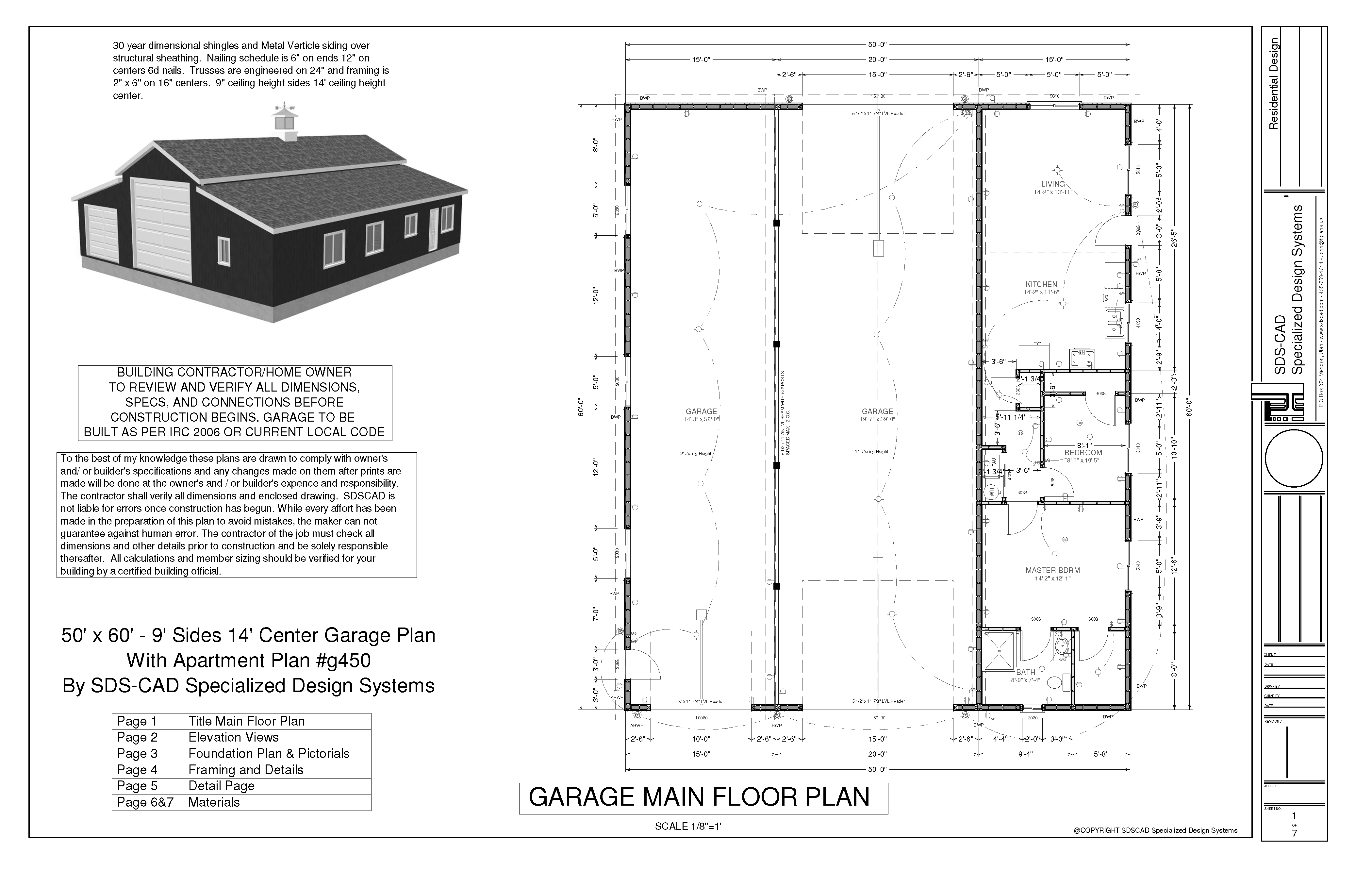 g450 60 x 50 10 apartment barn style page 1 sds plans [ 4199 x 2717 Pixel ]