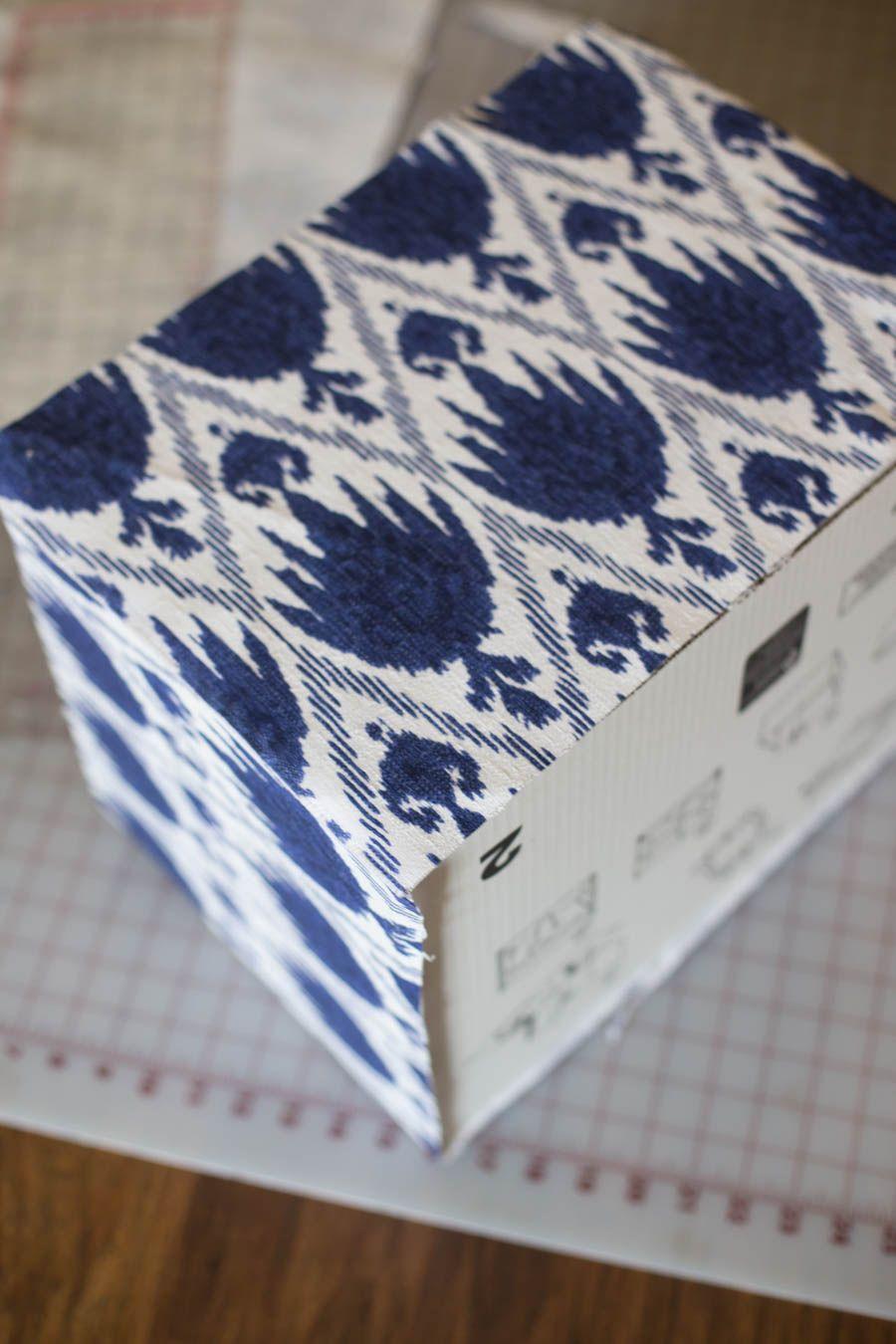 Fabric Covered Storage Boxes   Stylish Storage