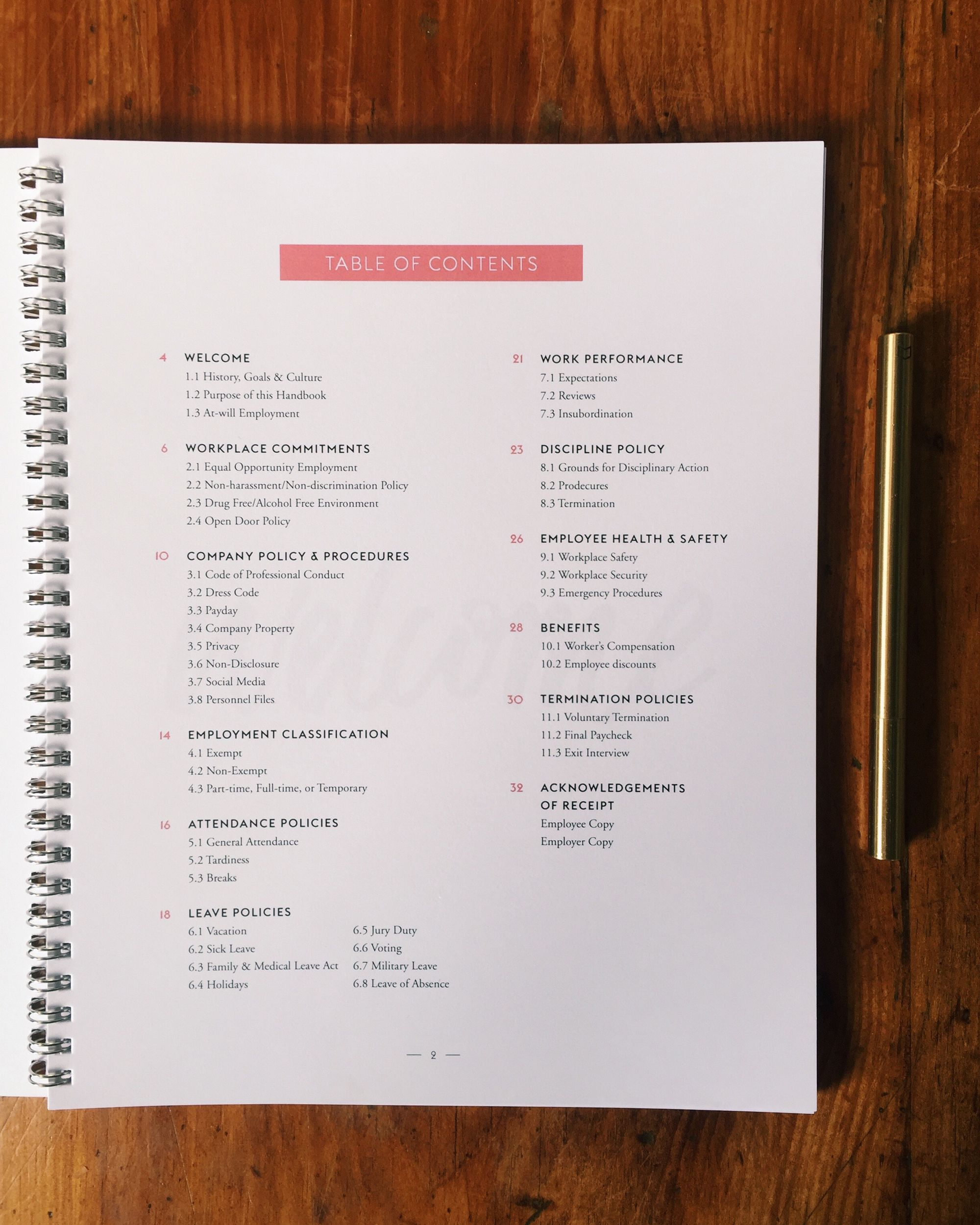 Employee Handbook Layout Design She Reads Truth Employee Handbook Employee Handbook Template Guidebook Design