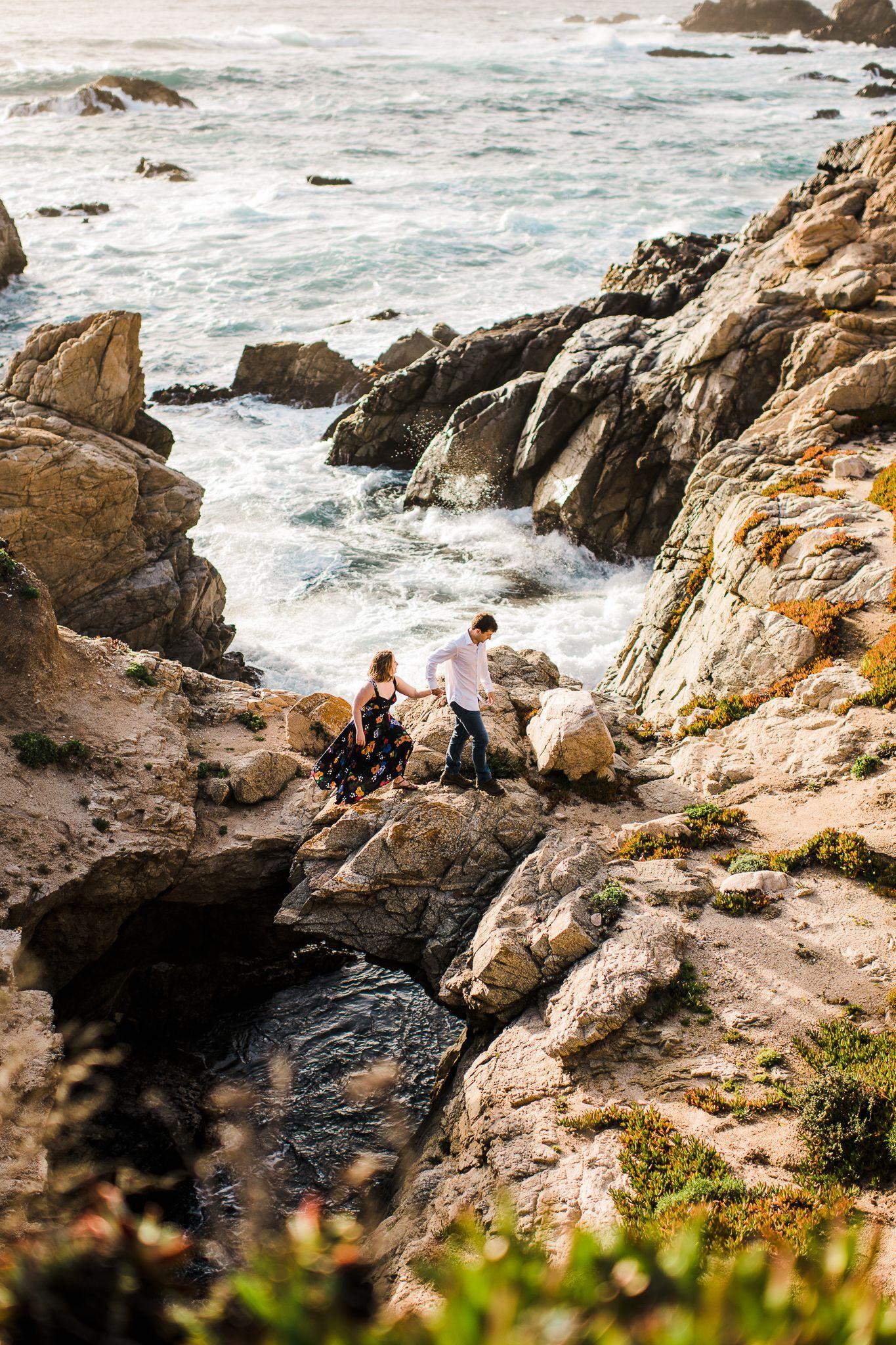 Big sur engagement session in 2020 california elopement