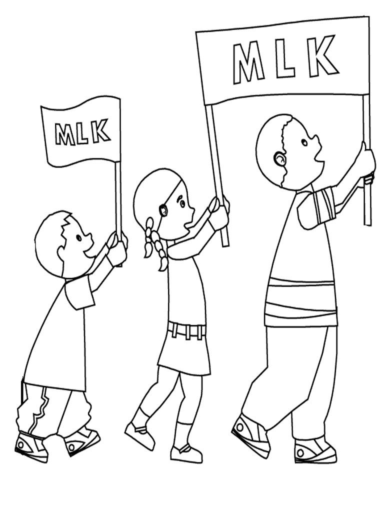 Martin Luther King Jr Parade Coloring Pages | Coloring Pages | Pinterest