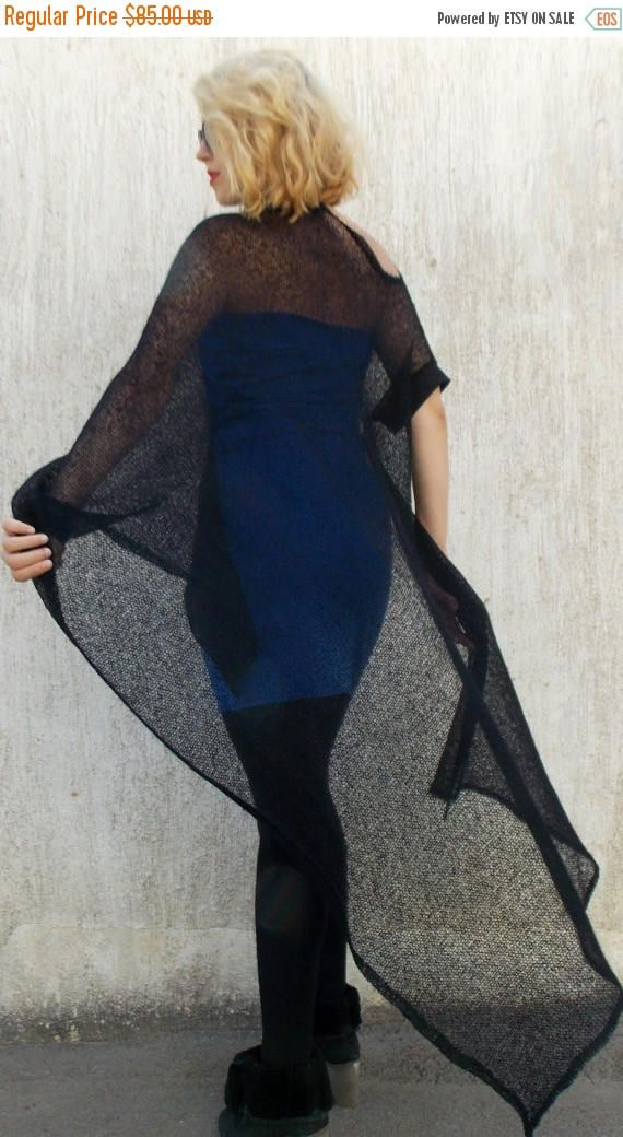 New in our shop! SALE 25% OFF Black Mesh Mohair Poncho with Blue Dress / Mesh Wool Poncho and Jersey Dress TT27 https://www.etsy.com/listing/202925043/sale-25-off-black-mesh-mohair-poncho?utm_campaign=crowdfire&utm_content=crowdfire&utm_medium=social&utm_source=pinterest