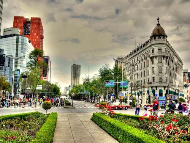 Reforma Avenue Glorieta de Colon Mexico City