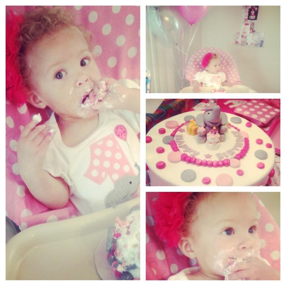 Imanee's 1st Home Bakery cake! Happy 1st Birthday!