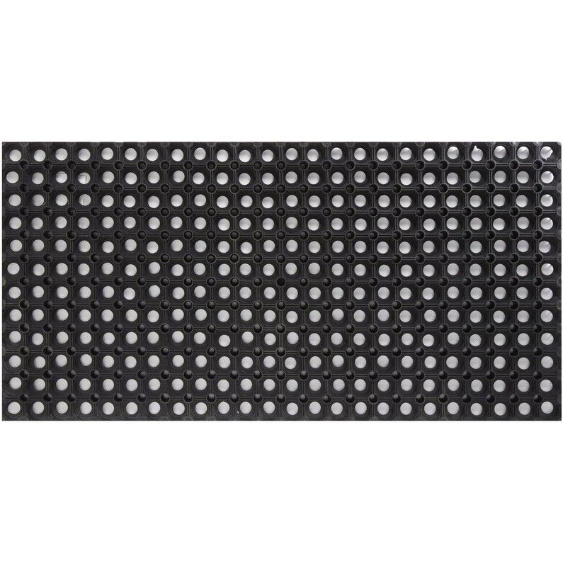Paillasson Caoutchouc Noir L 100 X L 50 Cm Ring Rubber Mat Leroy Merlin Paillasson Tapis Sisal Caoutchouc