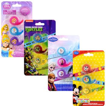 The kids will love to see their gifts sealed with decorative Disney® tape! Each pack contains 3 rolls of decorative cartoon tape, each of which comes in a disposable plastic tape dispenser. They&#