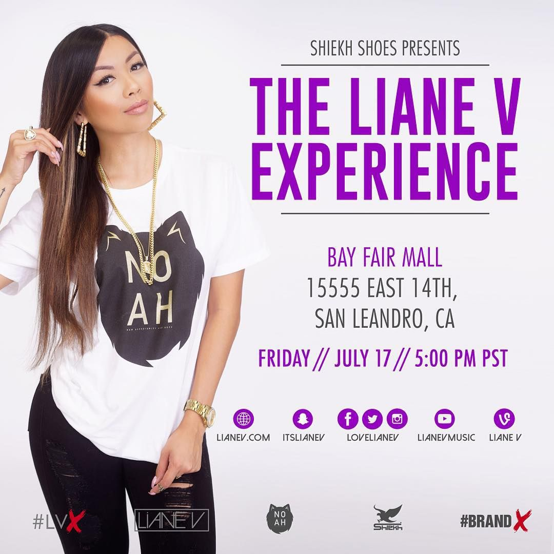 San Leandro! You're up next for the @lovelianev Experience! Head over to Shiekh at Bay Fair Mall for the meet & greet at 5pm. #LVX