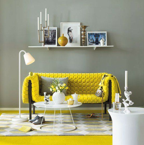 Have you noticed my favorite color combination is yellow and gray