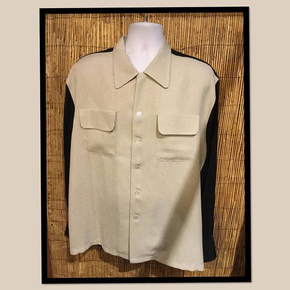 Vintage 1950s two tone shirt size small